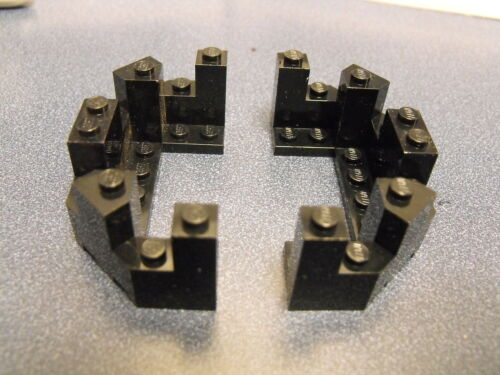 Lego Lot Of 2 Black Castle Turret Top 4 x 8 x 2 1//3