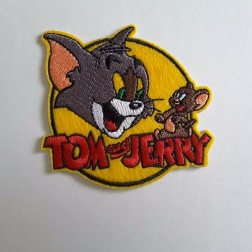 """Tom Jerry Mouse 3/"""" Disney Cartoon Character Embroidered Iron-On Applique Patch"""