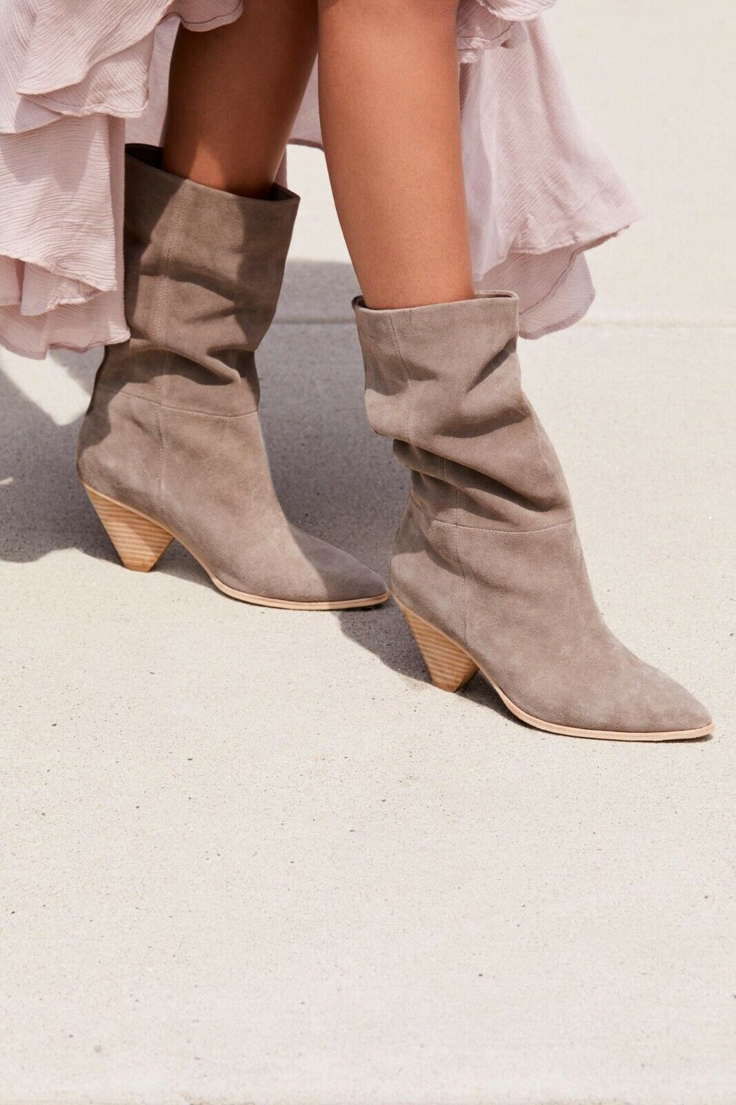 New Free People + Jeffrey Campbell Stella Slouch Boot size 5 MSRP   228 Suede