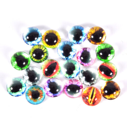 20Pcs Glass Doll Eye Making DIY Crafts For Toy Dinosaur Animal Eyes AccessorieZP