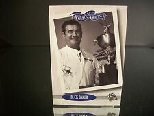 Rare Buck Baker Press Pass Heroes Of Racing 1995 Card #118