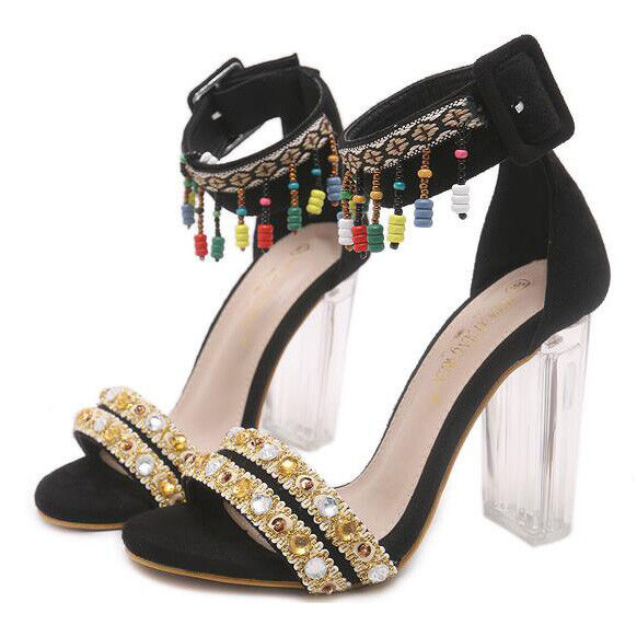 Sandali quadrato 10 eleganti sabot 10 quadrato nero colorato simil pelle eleganti CW248 6ddac0