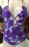 2chillies Bahia Halter One Piece Peak-a-boo Front Rrp $89.95 Sale Sz 8