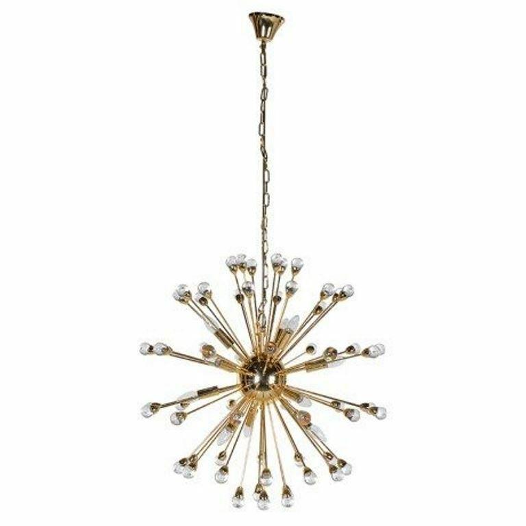 Christmas Sale  Gold Globe Starburst Ceiling Light   539 Brand New Sealed