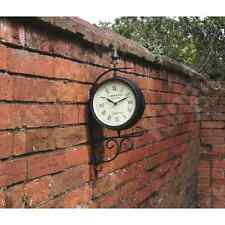 Victorian Station Style Garden Clock Perfect for Outdoor Use Double Sided Face