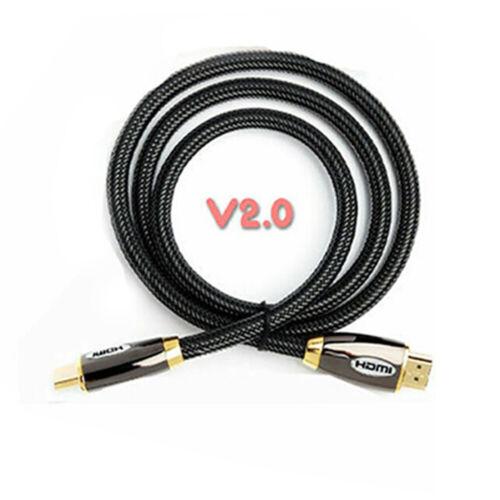Geflochten HDMI Kabel 4K V2.0 Premium High Speed Ultra HD TV 2160p 0.5m Sich 20m