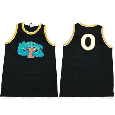 Mens Space Jam #0 Looney Toones Monstars Squad Basketball Jerseys Stitched