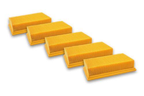 5x Staubsaugerfilter für Flex VCE 35 L AC Flachfalten-Filter