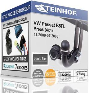 ATTELAGE-fixe-VW-PASSAT-4x4-Break-2000-2005-FAISCEAU-SPEC-7-broches