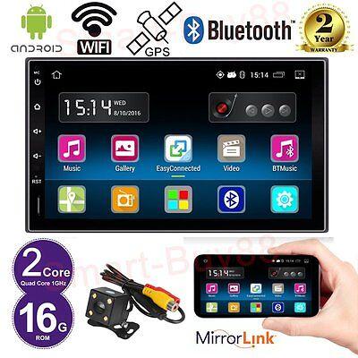 "7 ""Double Din Android 5.1 Quad-core Autoradio WiFi GPS Nav Stereo BT+Rear Camera"
