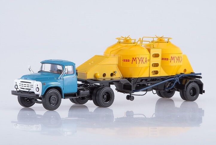 Start Scale Models (SSM) 1 43. ZIL-130V1 + semitrailer K4-AMG (flour transport).