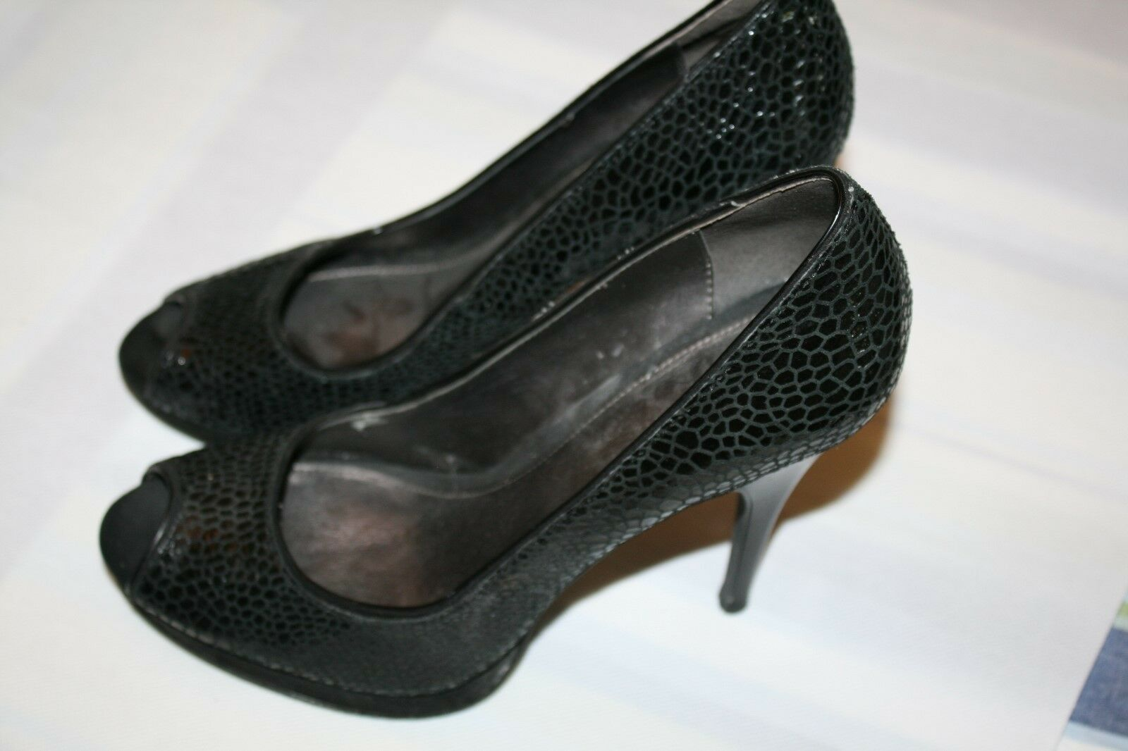 Calvin Heel Klein Pari Womens Black Shoes 4.5