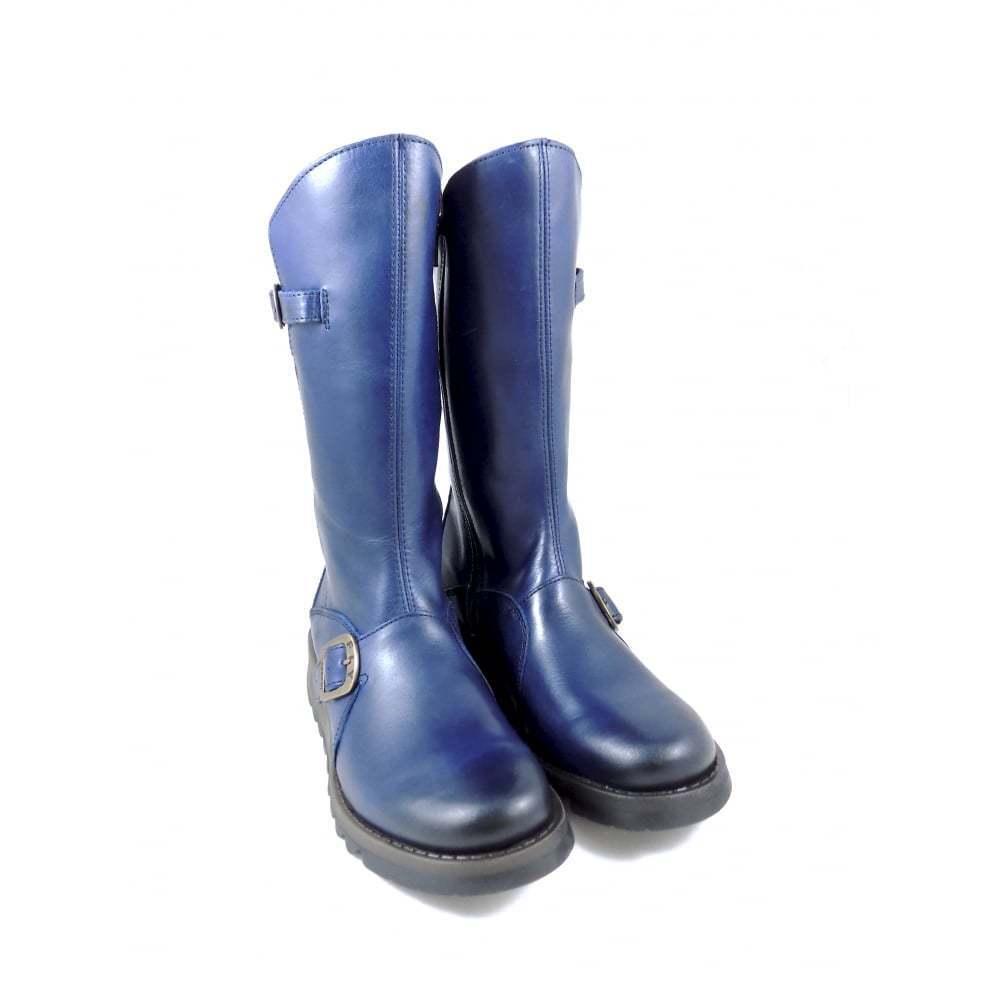 FLY LONDON MES 2 blau Wadenhohe Stiefel
