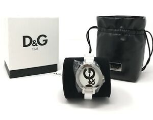D-amp-G-DW066-Dolce-amp-Gabanna-Hoop-La-Ladies-Watch-White-Rubber-Strap-NEW
