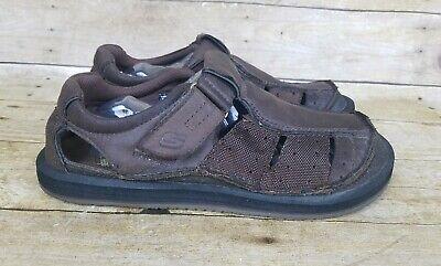 Skechers Brown Leather Sandals Mens Sz