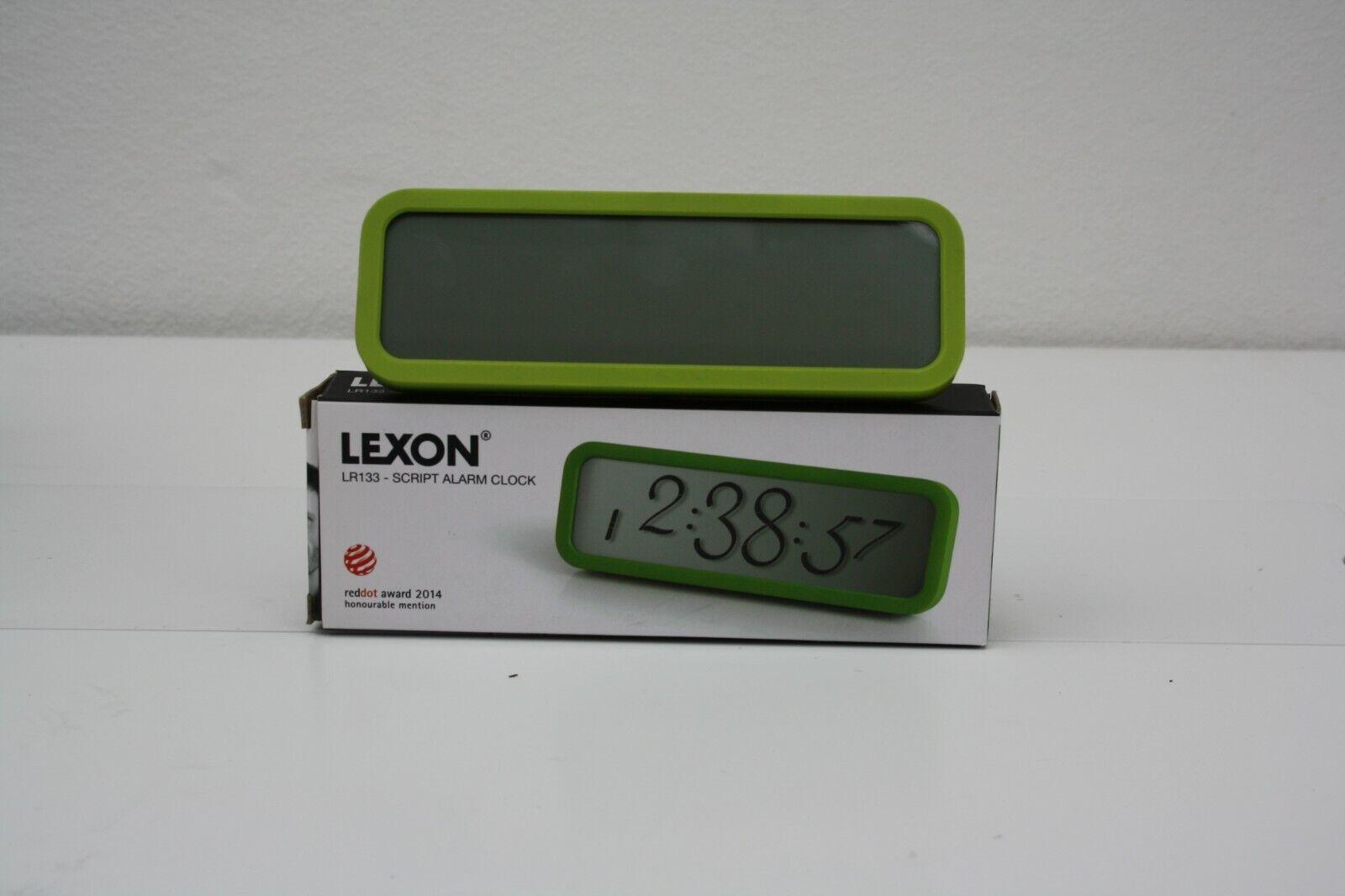 Farbauswahl schwarz /& weiß Lexon LCD Wecker Script LR133 Wanduhr Tischuhr