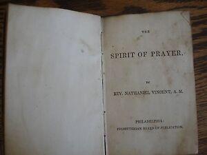 1ST-ED-ANTIQUE-1840-SPIRIT-OF-PRAYER-BOOK-BIBLE-PRESBYTERIAN-BOARD-PHILA-PA