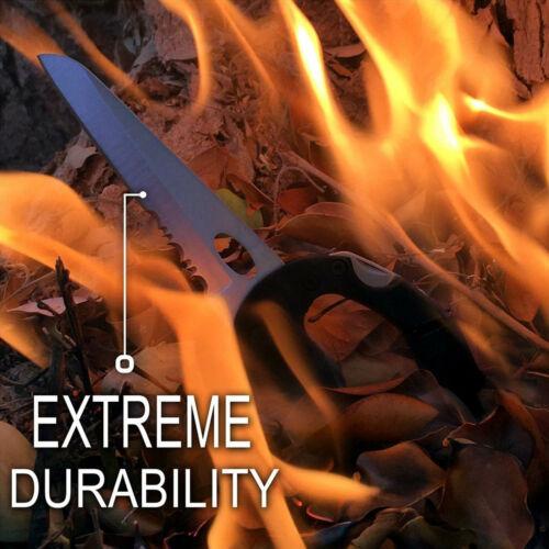 Heavy Duty Pocket Blade Multi Tool Carabiner Locking Knife Bottle Opener Black