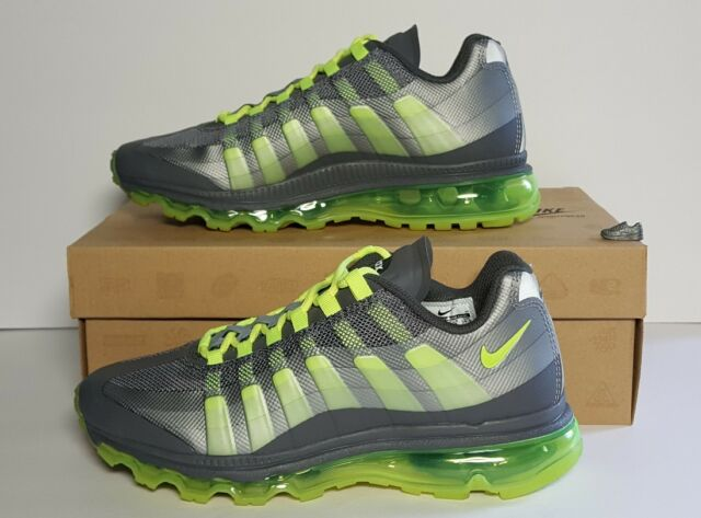 7023e3f58 Nike Air Max 95 360 GS Big Kids 512169-003 Grey Volt Running Shoes ...