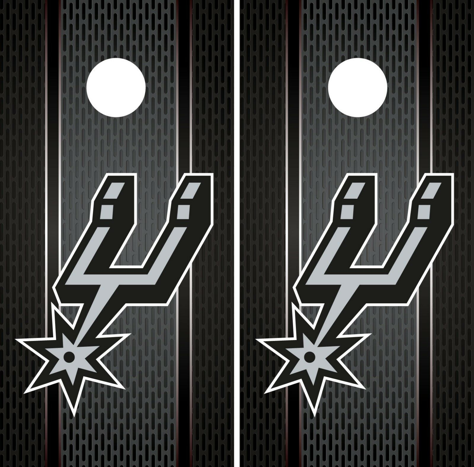 San Antonio Spurs Cornhole Wrap NBA Game  Skin Board Vinyl Decal Luxury Set CO711  online shopping