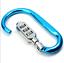 Key Chain Aluminum Hang D Shape Carabiner Screw Lock Bottle Hook Buckle Padlock