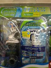 New 2013 Schick Hydro 5 Power Select Razor Evangelion Rei Ayanami Figure SET