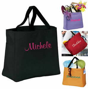 3-Personalized-Tote-Bag-Bridesmaid-Gift-Cheer-Dance-Monogrammed-Embroidered