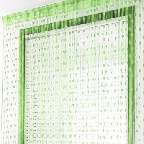 Cute Heart Line Tassel String Door Curtain Window Room Divider Curtain Valance