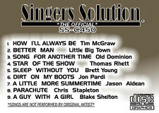 Singers Solution COUNTRY #450 KARAOKE CDG 9-SONGS-Better Man-Parachute-Star Show