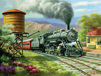 Jigsaw Puzzle Train Number 90's Daily Run 500 Pieces Made In The Usa