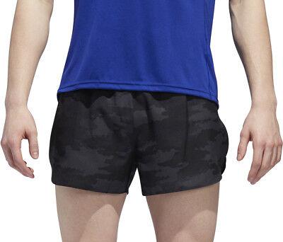 Adidas Response Mens Running Split Shorts - Grey Modern Und Elegant In Mode