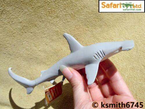 Safari Grigio Squalo Martello plastica solida giocattolo Wild Zoo Animale Pesce di Mare NUOVO