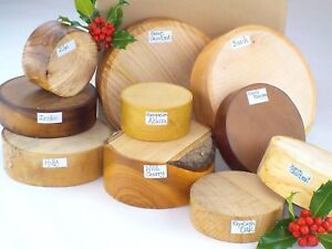 Wood-turning-bowl-blanks-gift-selection-box-10-blanks-Mixed-sizes-and-species-40
