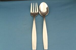 Tablespoon-Meat-Serving-Fork-Oneida-CAMLYNN-Frosted-Handle-Stainless-8-1-2-034