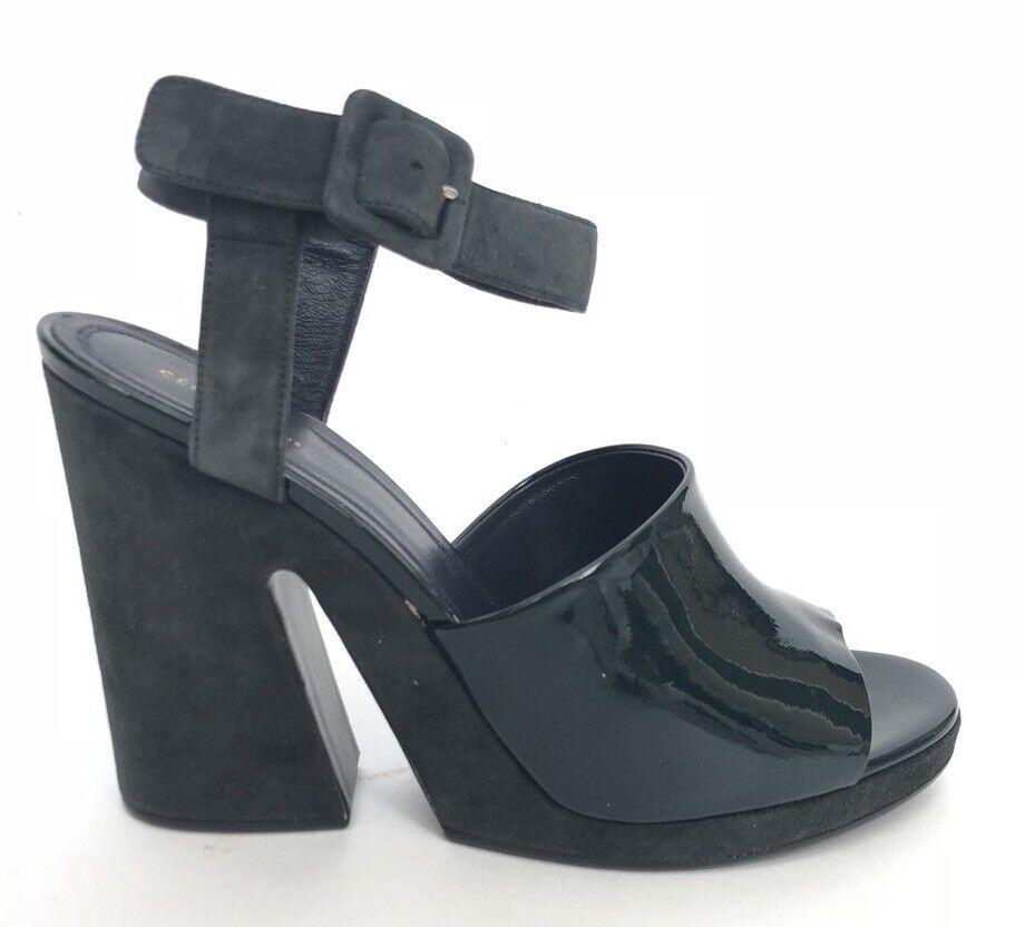 Celine donna scarpe Dimensione40 NIB Spalato  Wedge Sandal Dark verde Suede  supporto al dettaglio all'ingrosso