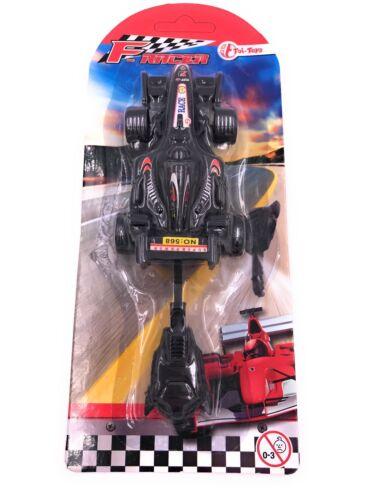 Rennauto Formel Racer mit Knopfdruckstart Auto Racing Spielzeug Rot Blau Schwarz