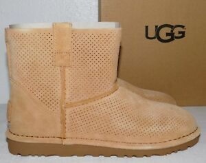 17ee948e05e Details about NEW NIB WOMENS SIZE 6 TAWNY UGG 1016852 CLASSIC UNLINED MINI  PERF SUEDE BOOTS