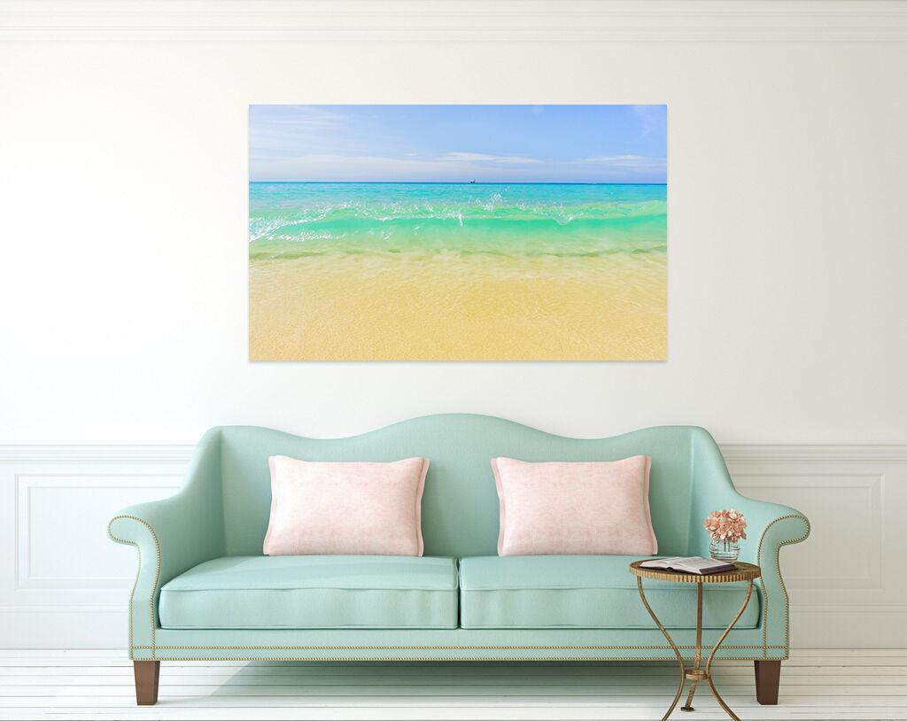 3D greene Wasser Strand Himmel 9 Fototapeten Wandbild BildTapete AJSTORE DE Lemon