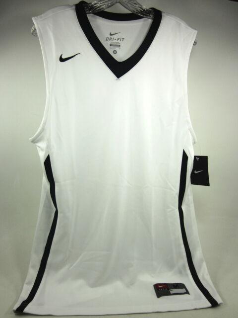 f26ee9ef0587e Nike Dri Fit Basketball Jersey Tank Top Training White Black Accents Mens  Medium