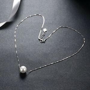 10mm-Creme-Suesswasser-Zuchtperlen-925-Sterling-Silber-Halskette
