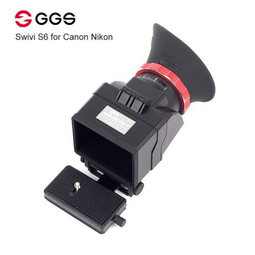 """GGS swivi S6 Visor con 3/""""//3.2/"""" Pantalla LCD para Canon 5D2 5D3 6D 7D 70D 750D"""