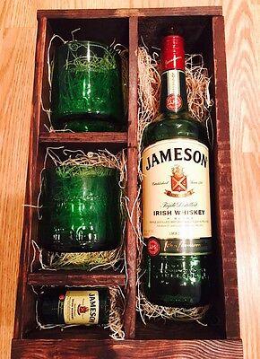 x2 Jameson Whiskey Upcycled Hand Cut Ashtrays