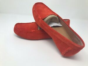 7714ec59b5e NIB by UGG Australia Milana Suede Flat Loafers Red Orange Women's ...