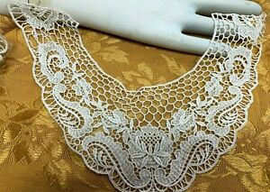 VINTAGE-LACE-Collar-Rayon-Cotton-Dyeable-1piece-Made-in-USA-2003RC