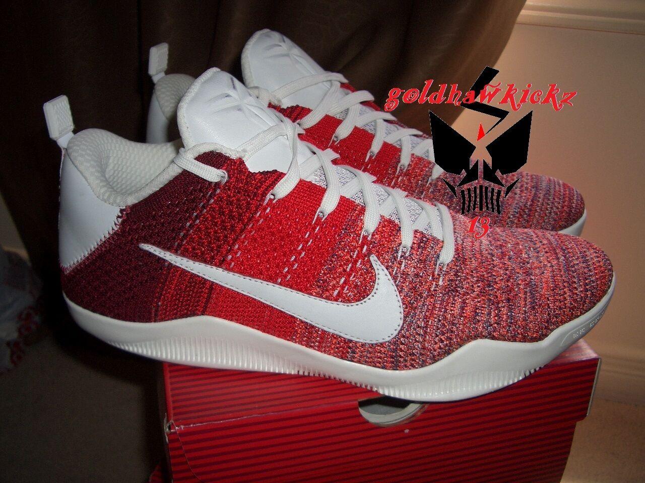 Nike Kobe XI Elite Low 4KB RED HORSE University Red 824463-606 mamba day flyknit