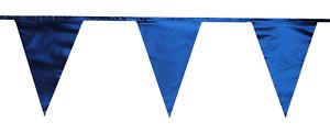 Metálico Azul Marino bluetraditional 12m 28 Poliéster Triángulo BANDERA Empavesado Bandera