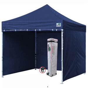 Details about 10x10 Navy Blue Ez Pop Up Canopy Outdoor Instant Shelter Tent  w/ Side Walls