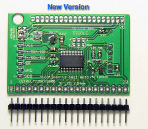 Universal-Serial-UART-iic-i2c-spi-Adapter-v2-for-128x64-LCD-Arduino-Lib