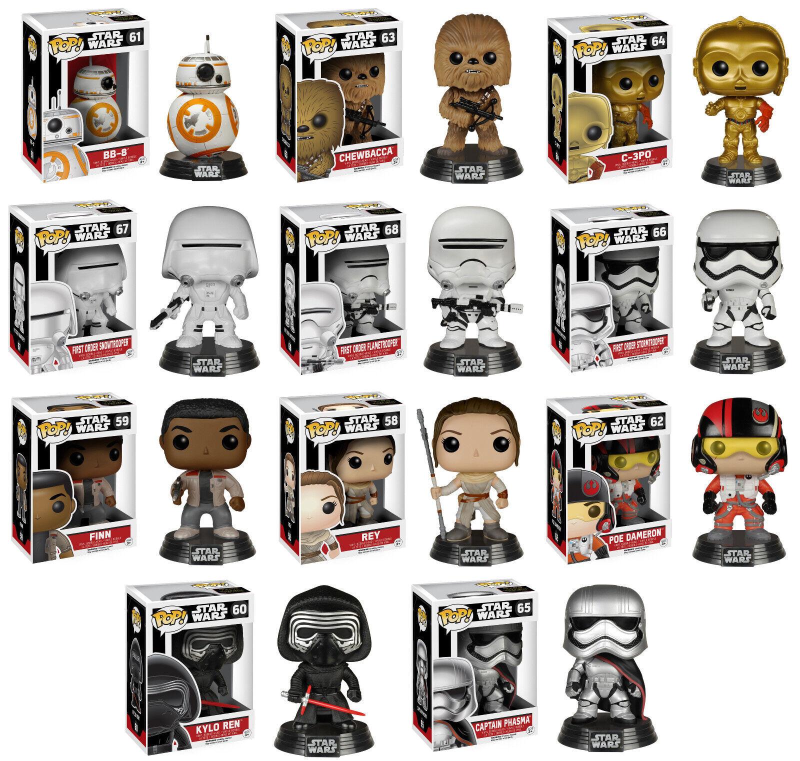 Star Wars VII Force Awakens Funko Pop 11 Figure Set BB-8 Finn Rey C3PO Kylo Ren