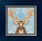 Winter Stag Beaded Counted Cross Stitch Kit Mill Hill Buttons & Beads 2016